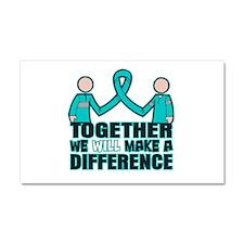 Ovarian Cancer Together Car Magnet 20 x 12