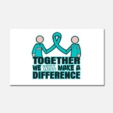 Ovarian Cancer Together Car Magnet 20 x 12