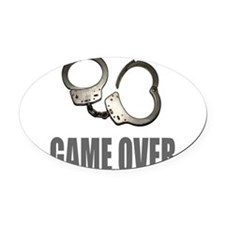 HANDCUFFS/POLICE Oval Car Magnet