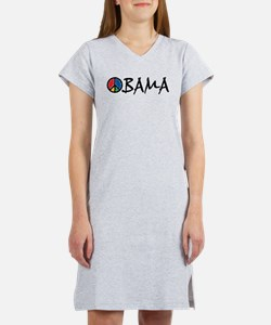 3-obama_peace_st.png Women's Nightshirt