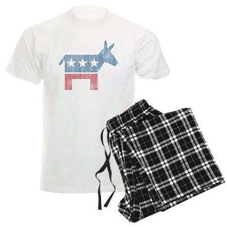 Vintage Democrat Donkey Men's Light Pajamas
