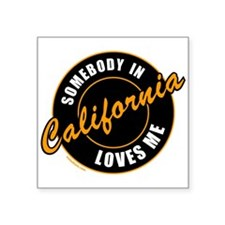 "CALIFORNIA Square Sticker 3"" x 3"""