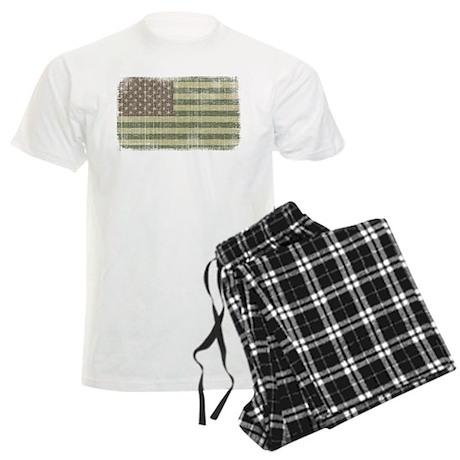 Camo American Flag [Vintage] Men's Light Pajamas
