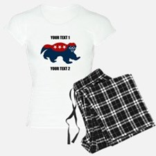 Patriotic Honey Badger Pajamas