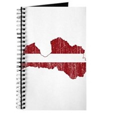 Latvia Flag And Map Journal