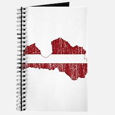 Latvia Flag And Map Journal