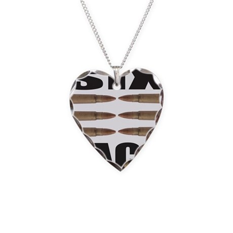SIX PACK Necklace Heart Charm