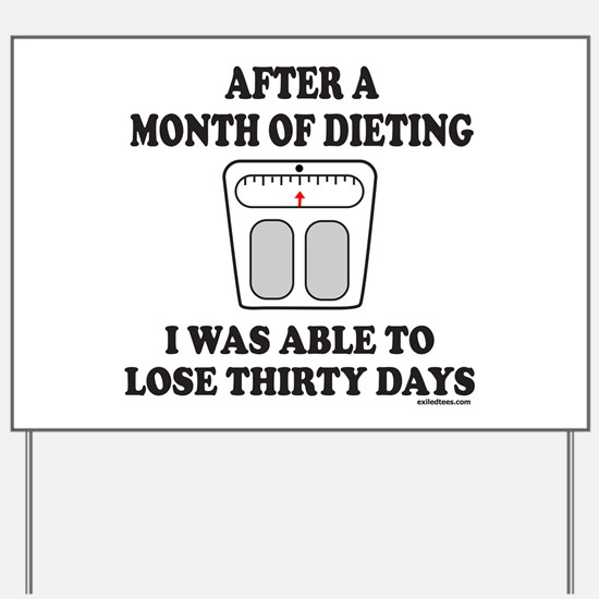 WEIGHT LOSE Yard Sign