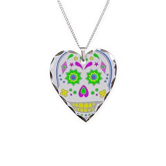 PSYCHEDELIC SKULL Necklace