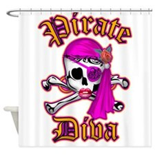 PIRATE DIVA Shower Curtain