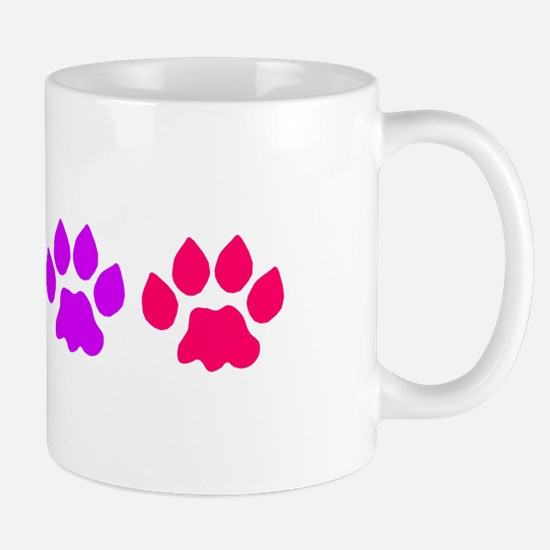 Rainbow Colored Paws Mug