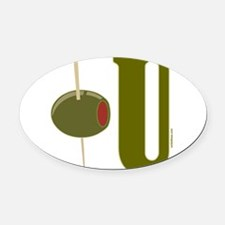 OLIVE U (I LOVE YOU) Oval Car Magnet
