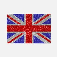 British Glam Rectangle Magnet