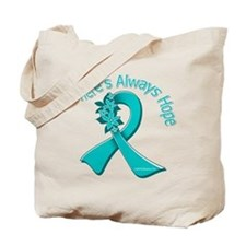 Ovarian Cancer There's Always Hope Tote Bag