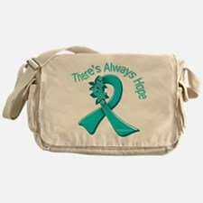 Ovarian Cancer There's Always Hope Messenger Bag
