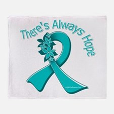 Ovarian Cancer There's Always Hope Throw Blanket