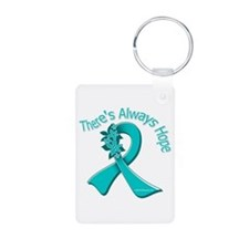 Ovarian Cancer There's Always Hope Keychains