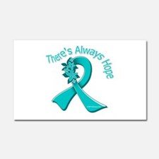 Ovarian Cancer There's Always Hope Car Magnet 20 x