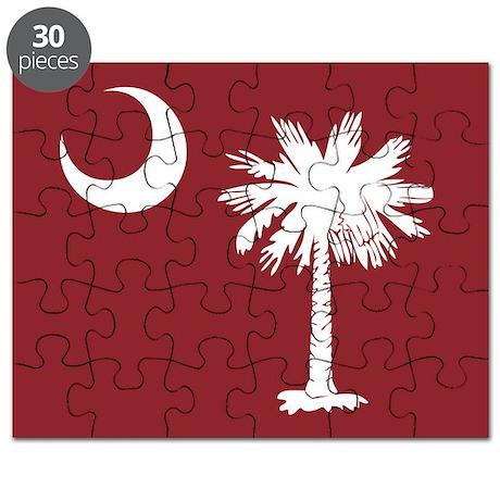 South Carolina Palmetto Moom Flag Puzzle