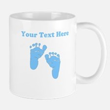 Personalized Baby Feet Blue Mug