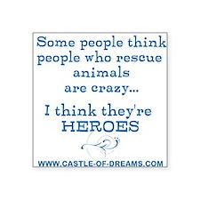 "Rescue Heroes-Blue Square Sticker 3"" x 3"""