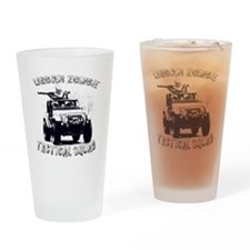 Urban Zombie Tactical Squad Drinking Glass