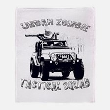 Urban Zombie Tactical Squad Throw Blanket