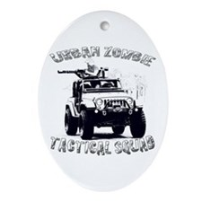 Urban Zombie Tactical Squad Ornament (Oval)