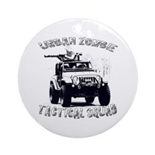 Urban Zombie Tactical Squad Ornament (Round)
