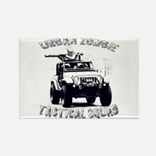 Urban Zombie Tactical Squad Rectangle Magnet