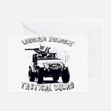 Urban Zombie Tactical Squad Greeting Card
