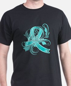 Ovarian Cancer Believe T-Shirt