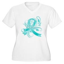 Ovarian Cancer Believe T-Shirt