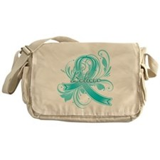 Ovarian Cancer Believe Messenger Bag