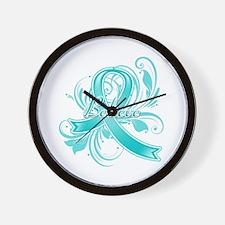 Ovarian Cancer Believe Wall Clock