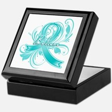 Ovarian Cancer Believe Keepsake Box