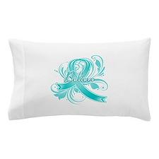 Ovarian Cancer Believe Pillow Case