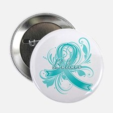 "Ovarian Cancer Believe 2.25"" Button"