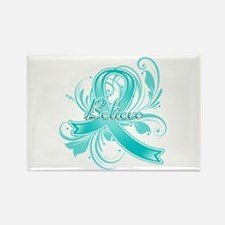 Ovarian Cancer Believe Rectangle Magnet