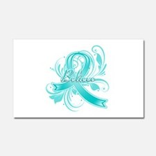 Ovarian Cancer Believe Car Magnet 20 x 12