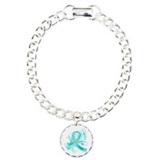 Ovarian Cancer Believe Charm Bracelet, One Charm