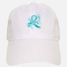 Ovarian Cancer Believe Baseball Baseball Cap