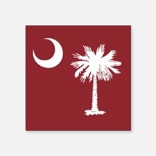 South Carolina Palmetto Moom Flag Square Sticker 3