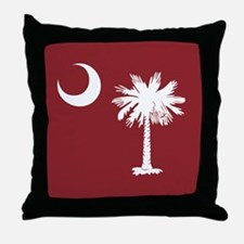 South Carolina Palmetto Moom Flag Throw Pillow