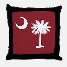South Carolina Palmetto Moom Flag Throw Pillow
