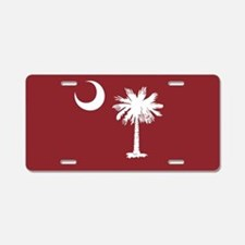 South Carolina Palmetto Moom Flag Aluminum License