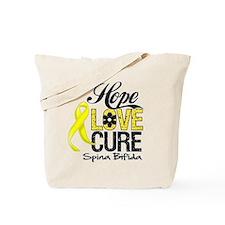 Hope Love Cure Spina Bifida Tote Bag