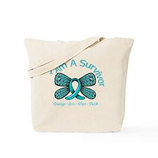 Ovarian Cancer I Am A Survivor Tote Bag