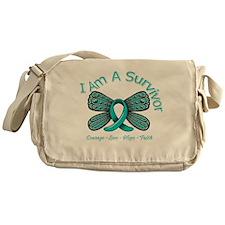 Ovarian Cancer I Am A Survivor Messenger Bag