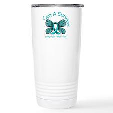 Ovarian Cancer I Am A Survivor Travel Mug